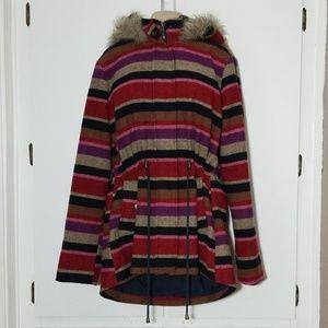 Mossimo Women's Wool Blend Striped Jack